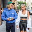 Justin Bieber et Hailey Baldwin, fiancés en juillet 2018 après s'être remis ensemble au mois de mai. Le couple s'était brièvement fréquenté de décembre 2015 à janvier 2016.