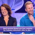 """Vincent et Anne Roumanoff lors du """"Combat des Maîtres"""" sur prime-time sur TF1."""