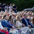 La famille royale de Suède lors de la célébration du 41e anniversaire de la princesse héritière Victoria de Suède le 14 juillet 2018 à Borgholm.