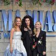 """Amanda Seyfried, Lily James, Meryl Streep à la première de """"Mamma Mia! Here We Go Again"""" au cinéma Eventim Apollo à Londres, le 16 juillet 2018."""