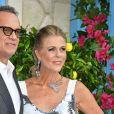 """Tom Hanks et sa femme Rita Wilson à la première de """"Mamma Mia! Here We Go Again"""" au cinéma Eventim Apollo à Londres, le 16 juillet 2018."""