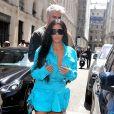 Kim Kardashian et son mari Kanye West arrivent au défilé de mode Homme printemps-été 2019 Louis Vuitton à Paris. Le 21 juin 2018.