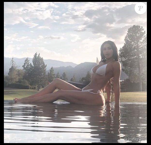 Kim Kardashian en bikini sur Instagram le 20 juillet 2018.