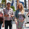 Exclusif - Adriana Karembeu enceinte de 7 mois et demi et son mari André Ohanian sont de retour à Monaco le 1er juin 2018 où elle va accoucher au mois de juillet. Le couple amoureux plus que jamais se promène sur le port Hercule de Monaco.
