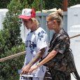 Exclusif - Justin Bieber et sa fiancée Hailey Baldwin à Miami, le 14 juillet 2018