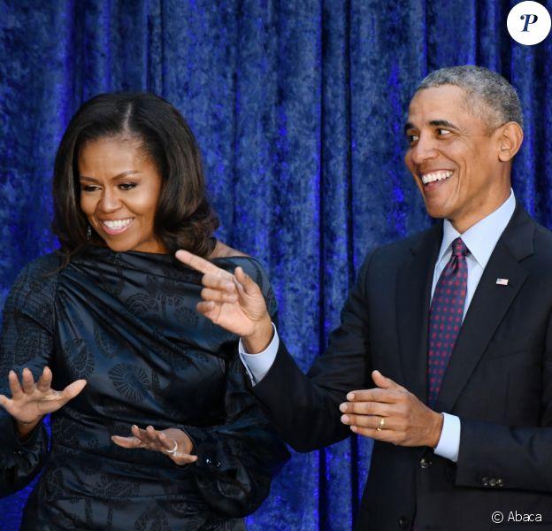 Michelle et Barack Obama à Washington, en février 2018.