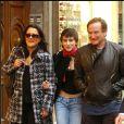 Robin Williams, sa femme Marsha Garces et leur fille Zelda à Rome en 2005.