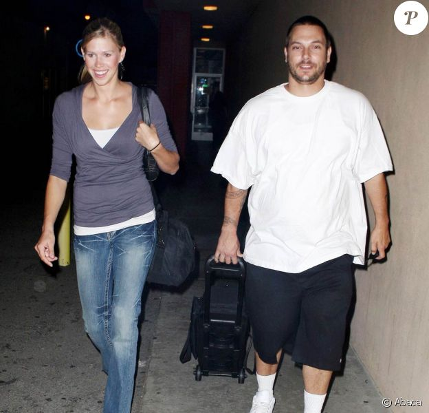 Kevin Federline et sa petite-amie, Victoria Prince hier, en Californie
