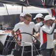 Le roi Felipe VI d'Espagne lors du dernier jour de la 37e Copa Del Rey à bord de son bateau Aifos à Palma de Majorque le 4 août 2018.