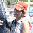 "L'infante Elena suit la 37e ""Copa del Rey"" à bord d'un bateau à Palma de Majorque en Espagne, le 2 août 2018."