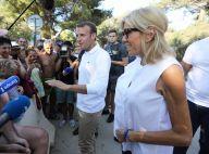 Brigitte et Emmanuel Macron : Premier bain de foule au pied du fort de Brégançon