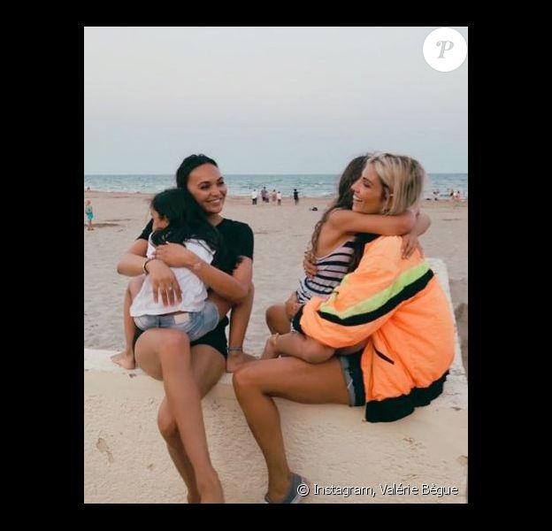 Alexandra Rosenfeld et Valérie Begue avec leurs filles - Instagram, 8 août 2018