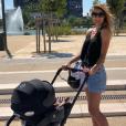 Ariane Brodier et son fils en balade à Montpellier - Instagram, 5 juillet 2018