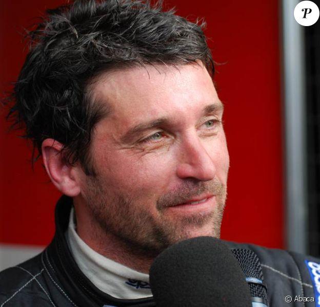 Patrick Dempsey est au Mans pour les test de la course des 24 heures du Mans (ici en interview, hier)