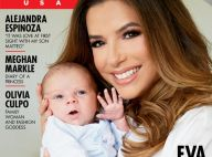 Eva Longoria : Maman chic et gaga avec son petit Santiago rieur dans ses bras