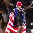 "Madonna, fière patriote, lors de son ""Rebel Heart Tour"" à New York, en 2015."