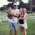 Matthew Stafford, quarterback des Detroit Lions, et sa femme Kelly attendent leur troisième enfant. Photo Instagram 2018.