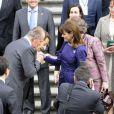Carla Bruni et Nicolas Sarkozy visitent le musée du Prado, à Madrid. 27/04/09