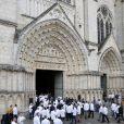 Illustration - Obsèques de Joël Robuchon en la cathédrale Saint-Pierre de Poitiers le 17 août 2018. © Patrick Bernard / Bestimage