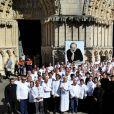 Alain Ducasse, Thierry Marx - Obsèques de Joël Robuchon en la cathédrale Saint-Pierre de Poitiers le 17 août 2018. © Patrick Bernard / Bestimage