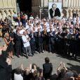 Jean-Pierre Raffarin, les chefs - Obsèques de Joël Robuchon en la cathédrale Saint-Pierre de Poitiers le 17 août 2018. © Patrick Bernard / Bestimage