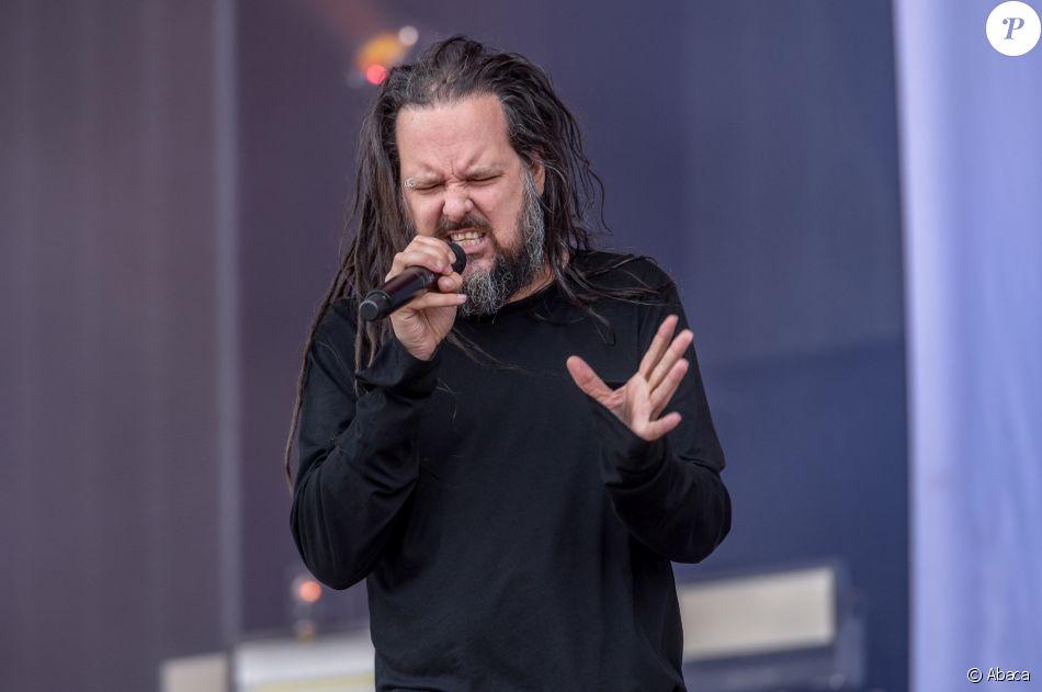 Jonathan Davis au HellFest à Clisson, le 23 juin 2018.