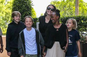 Angelina Jolie : Tout sourire et détendue avec Vivienne, Zahara, Knox et Shiloh