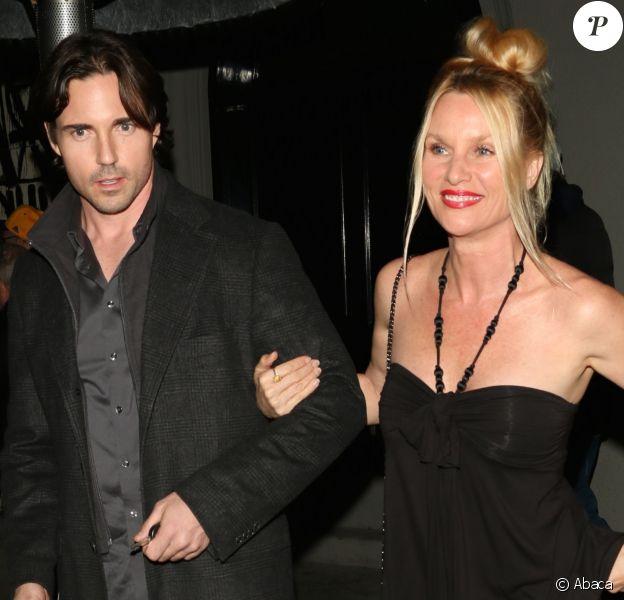 Nicollette Sheridan et son mari Aaron Phypers à Los Angeles, le 9 mars 2015.