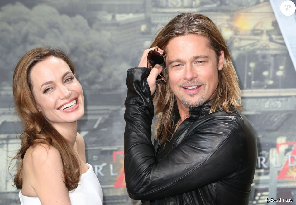"""Brad Pitt et Angelina Jolie à la première de """"World War Z"""" à Berlin en Allemagne le 4 juin 2013."""