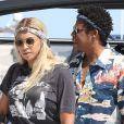 Exclusif - Jay-Z et Beyoncé arrivent en bateau à Nice le 17 juillet 2018.