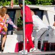 Jay-Z et Beyoncé sont allés découvrir en bateau le Lac de Côme en Italie le 7 juillet 2018