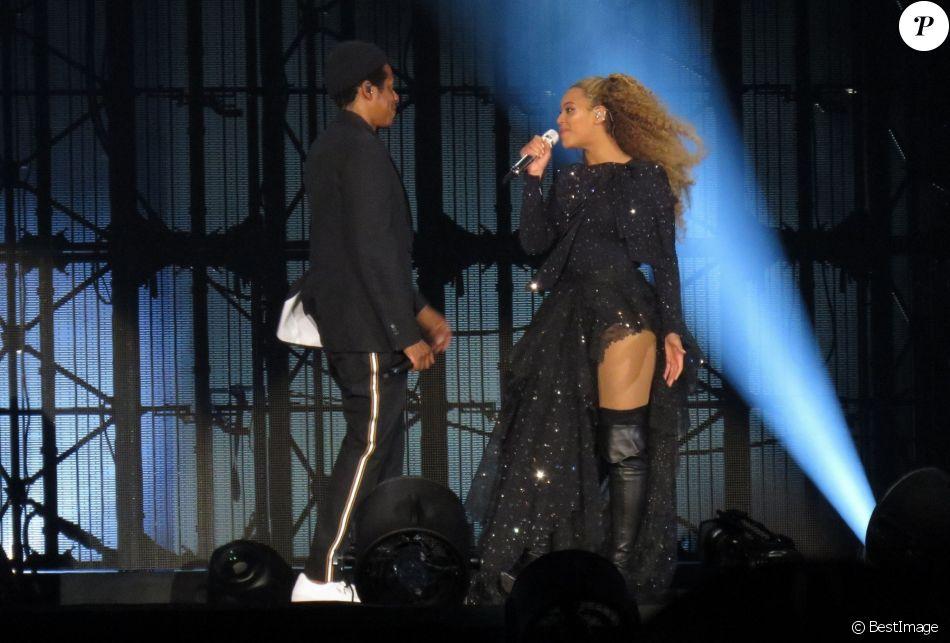 """Beyoncé et Jay Z en concert à Cardiff pour leur tournée """"On the Run Tour II"""" le 6 juin 2018"""