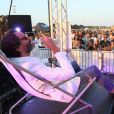"""Exclusif - Frédéric Beigbeder, parrain du """"Little Festival"""", à Capbreton, le 1er août 2018."""