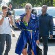 Lady Gaga arrive aux Studios de l'Olivier à Malakoff, le 28 août 2018.