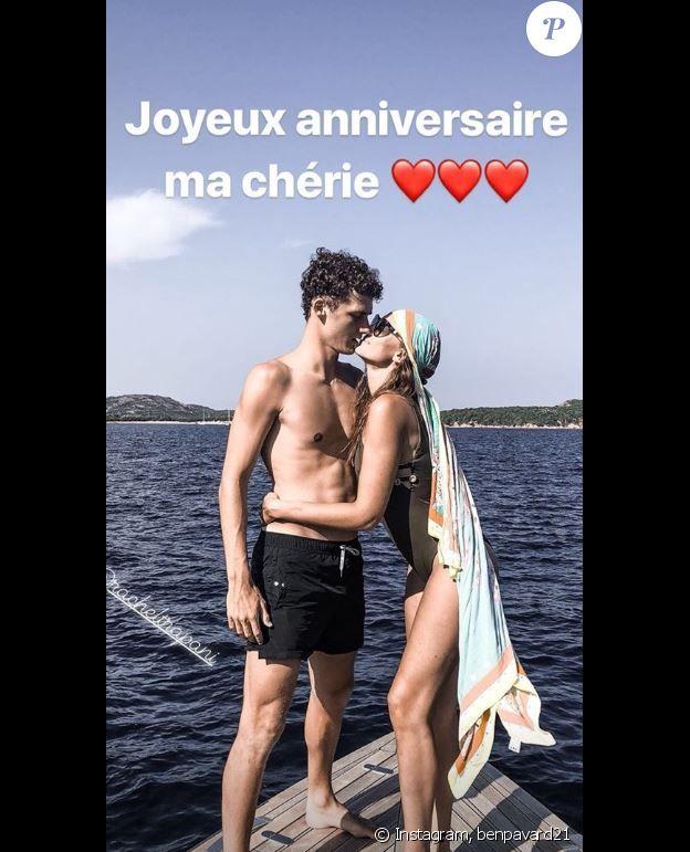 Benjamin Pavard adresse une jolie déclaration d'amour à Rachel Legrain-Trapani à l'occasion de l'anniversaire de l'ancienne Miss France le 31 août 2018.