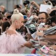 """Lady Gaga (robe Valentino) - Première du film """"A Star Is Born"""" lors du 75ème festival de Venise, La Mostra le 31 aout 2018."""