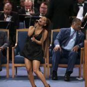 Obsèques d'Aretha Franklin : Le pasteur touche le sein d'Ariana Grande et choque