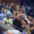 Kristina Mladenovic soutient Dominic Thiem battu en quarts de finale de l'US Open par Rafael Nadal, à New York, le 4 septembre 2018.
