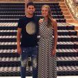 Kristina Mladenovic et Dominic Thiem à New York le 4 septembre 2018.