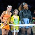 Anastasija Sevastova, Serena Williams lors de l'US Open de tennis au USTA National Tennis Center à New York City, New York, Etats-Unis, le 6 septembre 2018.