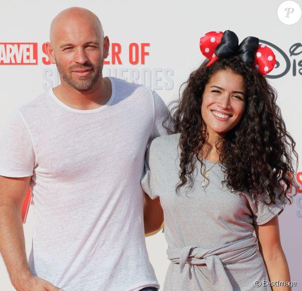 """Franck Gastambide et Sabrina Ouazani - Avant-première européenne du film """"Ant-man et la guêpe"""" à Disneyland Paris à Marne-la-Vallée, le 14 juillet 2018 © CVS/Bestimage"""