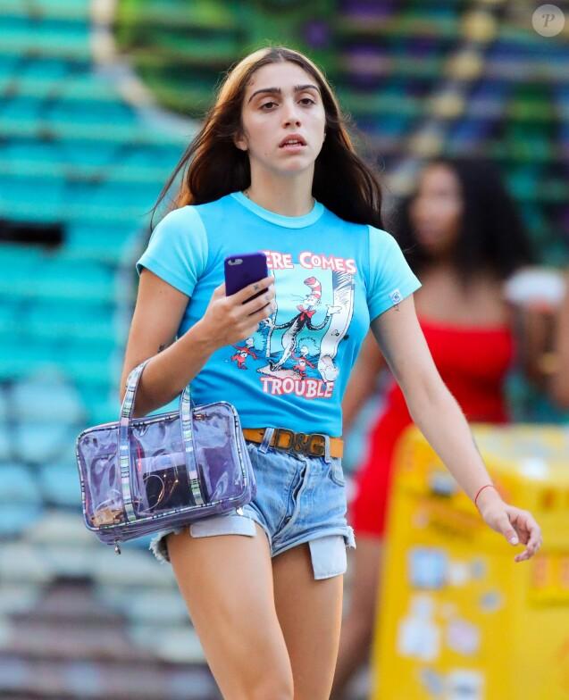 Lourdes Leon, la fille de Madonna, à New York le 30 juillet 2018.