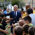 Didier Deschamps durant l'inauguration du Stade de football Didier Deschamps à Cap d'Ail le 12 septembre 2018. © Bruno Bebert / Bestimage
