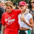 Exclusif - Justin Bieber et sa fiancée Hailey Baldwin se promène à New York le 3 août 2018.