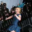 Madonna arrive au MET Costume Institute gala de New-York habillée en Vuitton