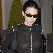 Kendall Jenner sans soutien-gorge après son défilé pour Burberry