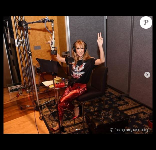 Céline Dion en studio, le 20 septembre 2018