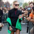 Chiara Ferragni à la sortie du défilé Prada lors de la Fashion Week de Milan (MLFW), le 20 septembre 2018.