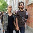 Barbara Becker et son fils Noah Becker lors de leur arrivée au défilé Fendi pendant la fashion week de Milan le 20 septembre 2018.