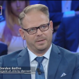 """Gordon Sattro, l'avocat de Jimmy Bennett, sur le plateau de """"Non è l'Arena sur la chaîne italienne LA7, dimanche 23 septembre 2018."""